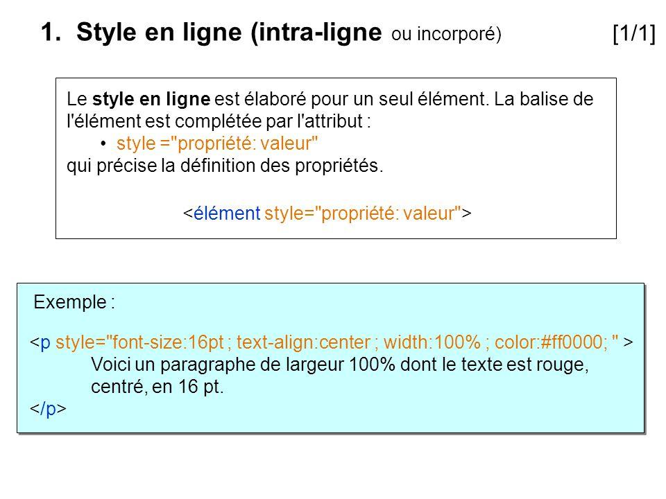 1. Style en ligne (intra-ligne ou incorporé) [1/1]